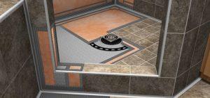 Walk in shower floor drain