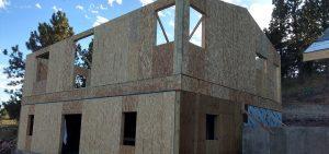 Exterior frame of a house