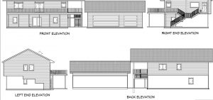 Blueprint of exterior of house