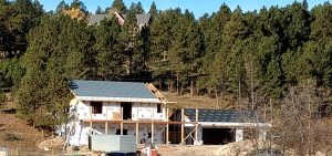 Exterior of new home in the building process