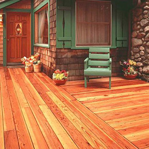 Wooden deck of a house